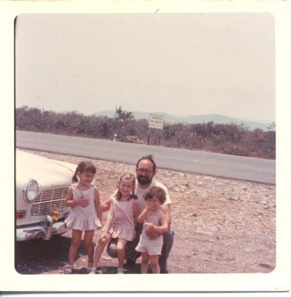 My dad Marvin Seiger with me and my sisters (Andrea & Leslie) on the Tropic of Capricorn in Mexico sometime last century.