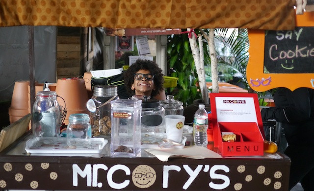 Mr. Cory and his cookie stand at Flea Marqueta