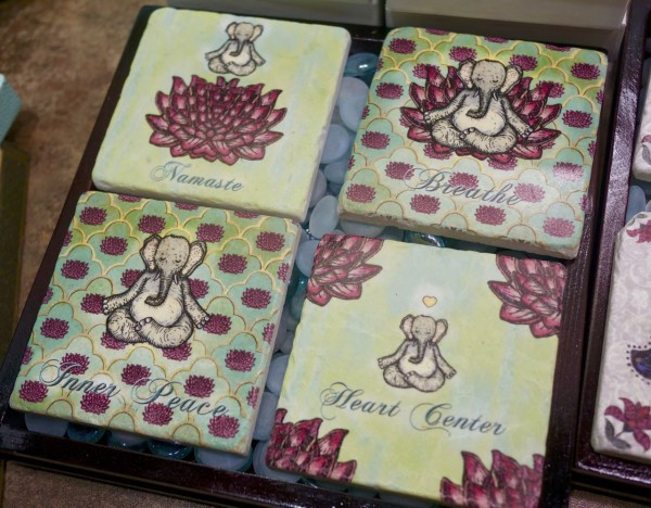 Who wouldn't love a gift of these zen elephant coasters from Karla Gudeon Gudeon Family Press