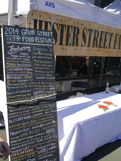 2014 Vendor Lineup at the Grub Street Food Festival
