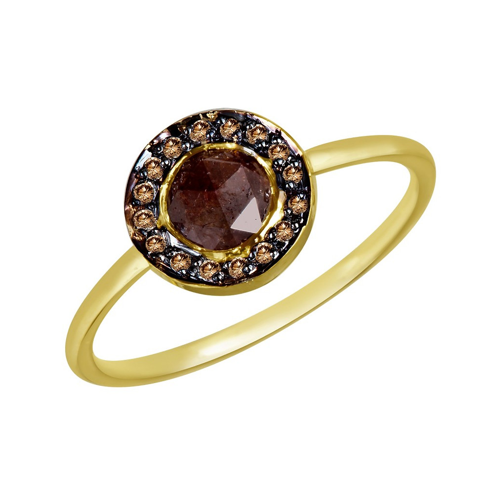 Atlantis Jewelry's 18K ring with a Madagascar garnet, surrounded by pavé diamonds set in rhodium. Available this weekend at ID Pop Shop in Chelsea Market.
