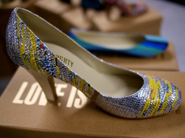 Love is Mighty: Working with women in India to create world-class fashion, like these pumps made from candy wrappers(!)