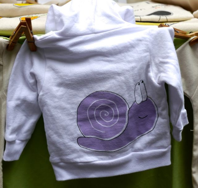 Bugged Out Purple Snail Kid Hoodie