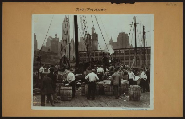 Irma and Paul Milstein Division of United States History, Local History and Genealogy, The New York Public Library. (1935). Fulton fish market in Manhattan - [North Atlantic fish trawler - North Dock - East River Pier No.18.] Retrieved from http://digitalcollections.nypl.org/items/510d47dd-9940-a3d9-e040-e00a18064a99