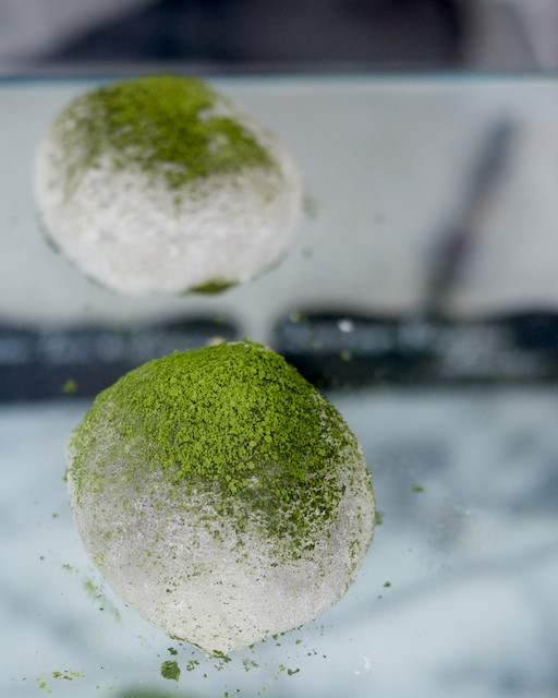Green tea tiramisu mochi by Hanaka NYC