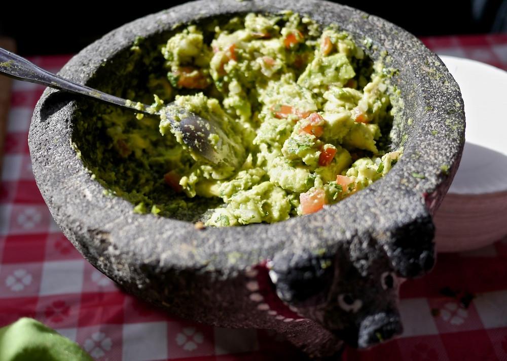 Fresh guacamole from El Kallejon - Flea Marqueta