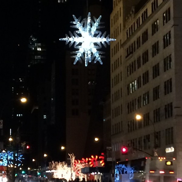 UNICEF Snowflake has been glowing at 5th and 57th since 2004