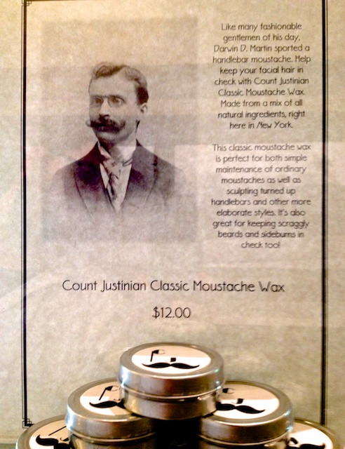 Darwin Martin and Count Justinian Moustache Wax on Display at the Frank Lloyd Wright Graycliff Estate