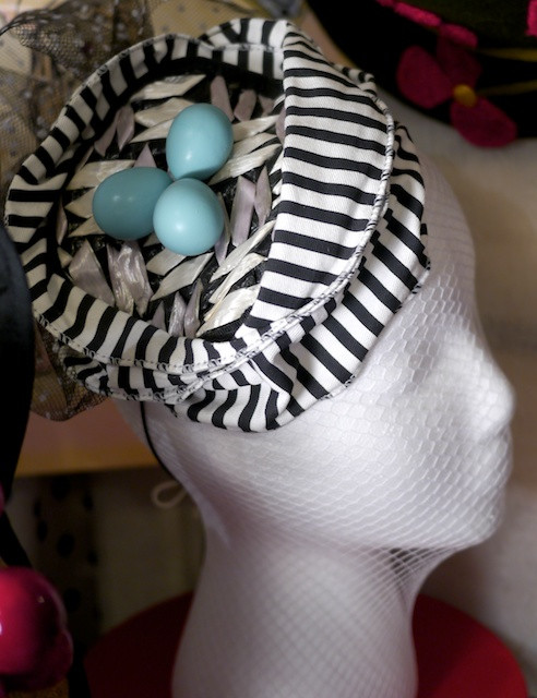 Katherine Carey Millinery Robin Egg Fascinator