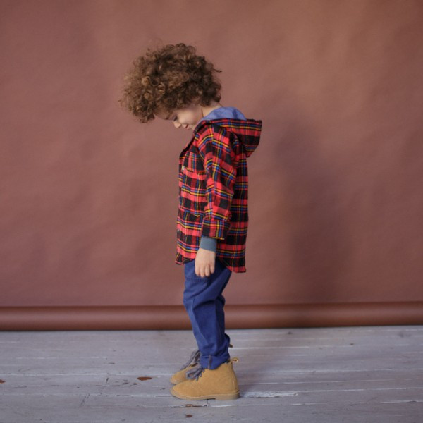 Kallio NYC makes soft, fashionable clothes for kids from reclaimed fabrics (photo by Kallio NYC)