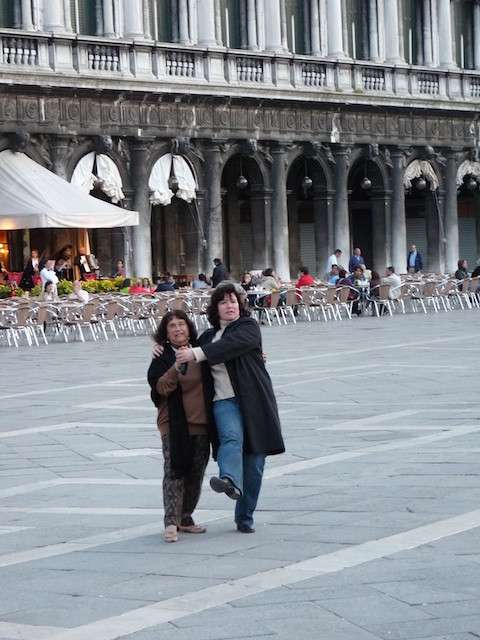 Dancing with Mom in Venice