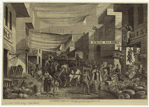 Art and Picture Collection, The New York Public Library. (1878). At Washington Market, New York. Retrieved from http://digitalcollections.nypl.org/items/510d47e0-d820-a3d9-e040-e00a18064a99