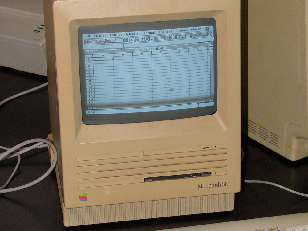 Early Apple: Mac SE. So cute, right?