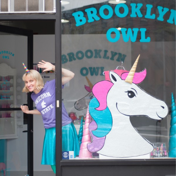 Unicorns Welcome at the new Brooklyn Owl Store with Owner Annie Bruce