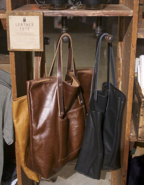 Handcrafted leather totes from The Local Branch