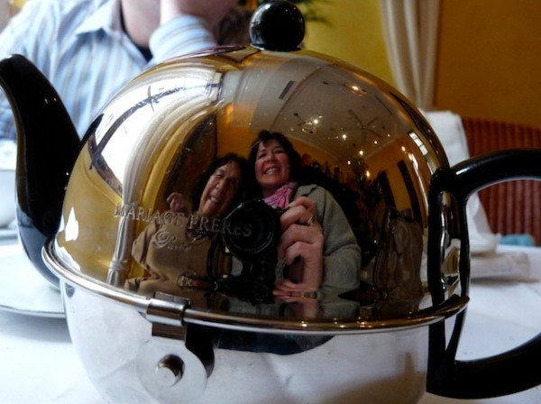 Mom and me in a teapot in Paris