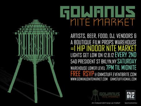 1 Reclaimed Film Props Warehouse + 25 Eclectic Vendors + 1 Wicked DJ = 1 HIP Indoor NITE Market