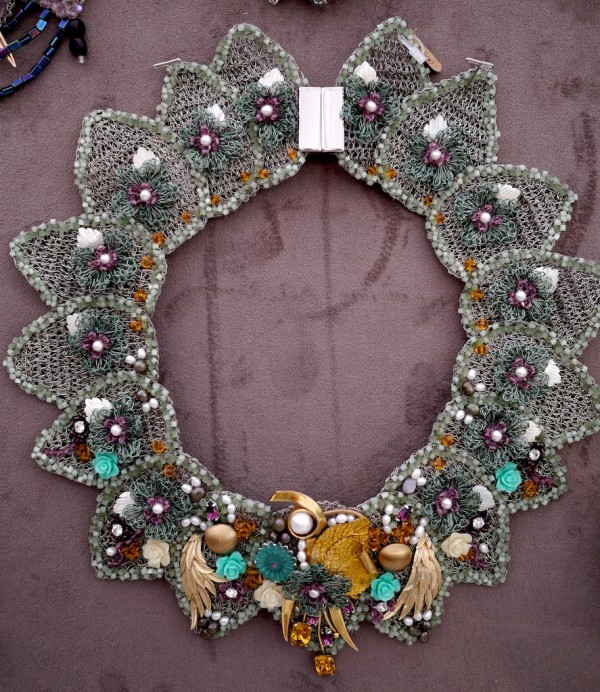 Stunning Crocheted Metal Collar by Cristina Peixoto