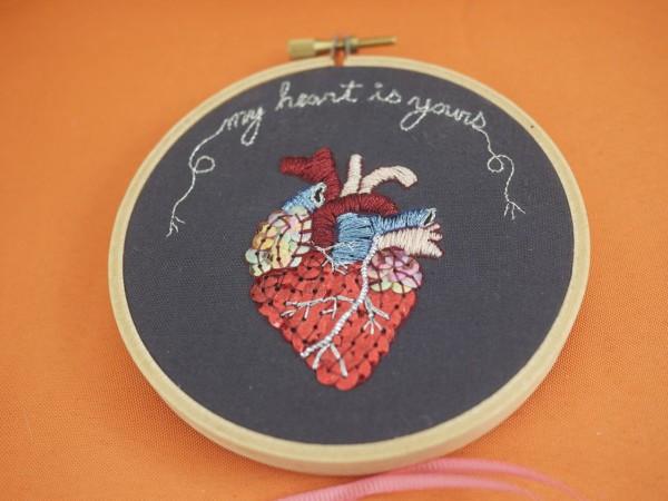 """""""My Heart Is Yours,"""" Hoop Art by Snapdragon Originals"""
