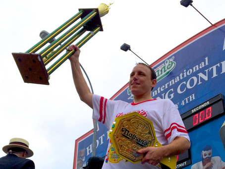 I Was This Close to Joey Chestnut on the Fourth of July [VIDEO]