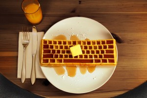Voila! Keyboard Waffle! (Image by Chris Dimino