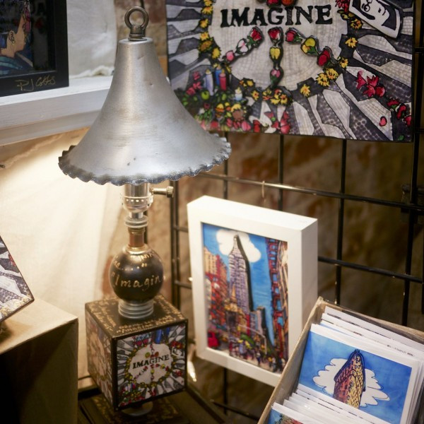 Imagine Steampunk Lamp, a collaboration between PJ Cobbs Arts and The Steampunk Illuminist