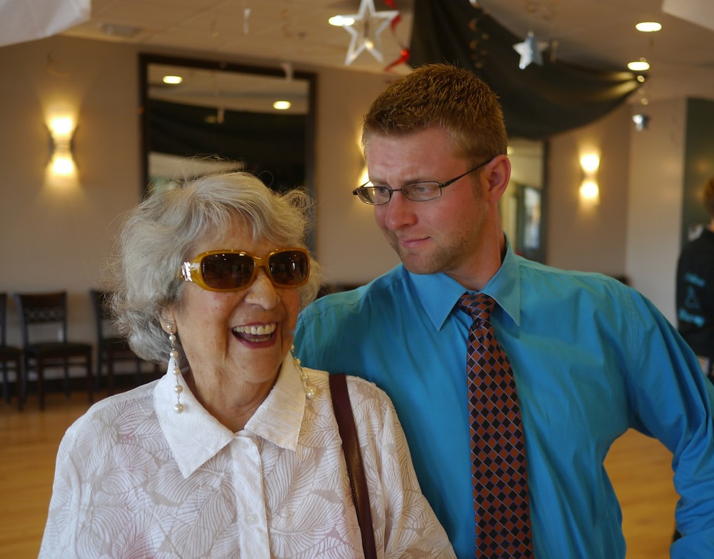 Mom in her Pucci sunglasses with Matt, her favorite dance instructor