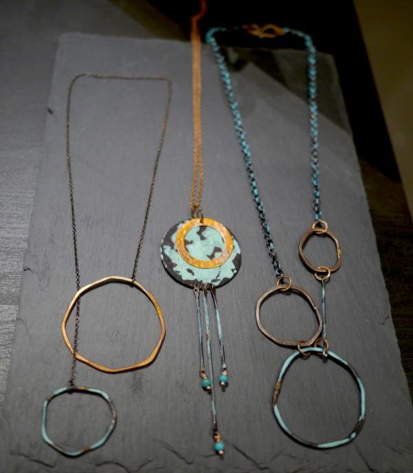 Elke Van Dyke Seascape Lariat Necklaces