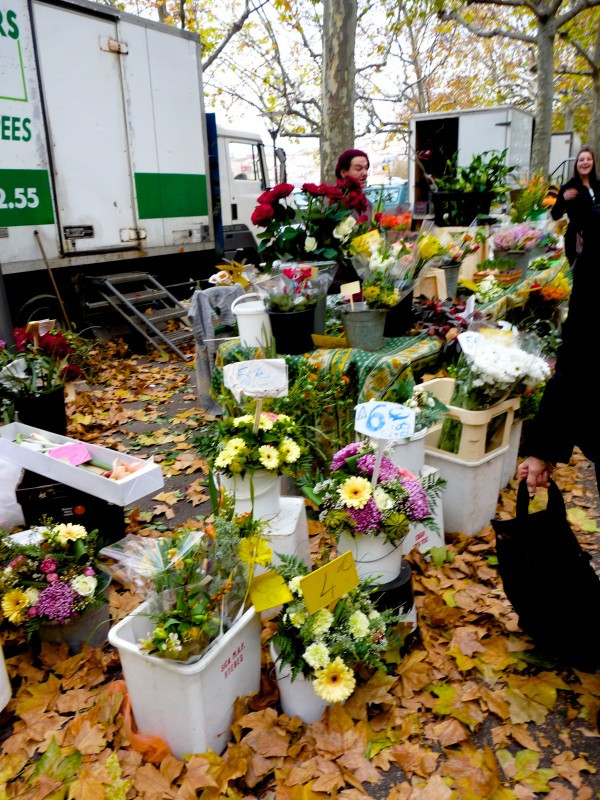 Fresh Flowers at the Saint Antoine Farmers Market in Lyon, France