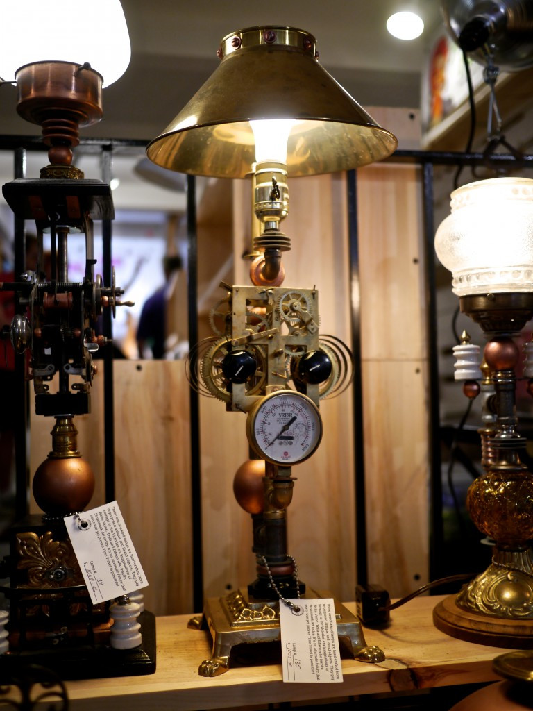 Terry Pielkin's Steampunk Illuminist Lamp at The Market NYC