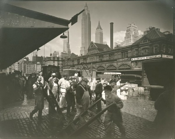 The Miriam and Ira D. Wallach Division of Art, Prints and Photographs: Photography Collection, The New York Public Library. (1935). Fulton Street Fish Market, Manhattan. Retrieved from http://digitalcollections.nypl.org/items/510d47d9-4f8d-a3d9-e040-e00a18064a99