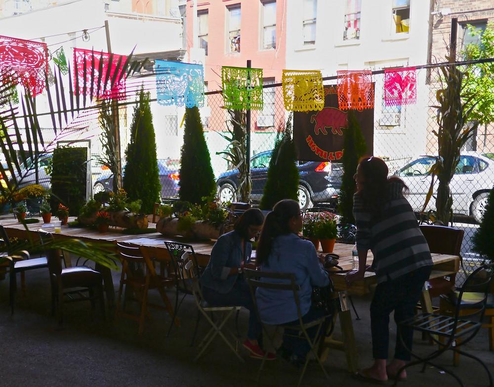 Communal Table at Flea Marqueta's El Boar-rio