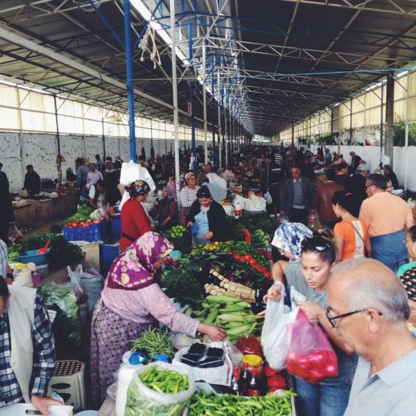 In the Friday Market in Fethiye Turkey