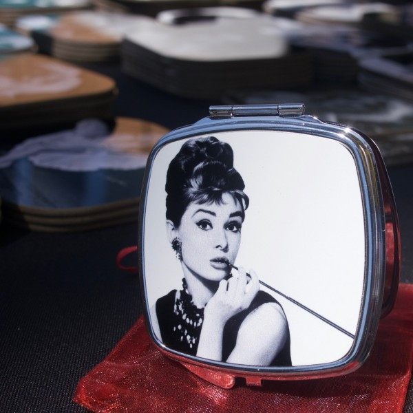 The Perfect Compact Mirror: Audrey Hepburn from Metro NY Retro
