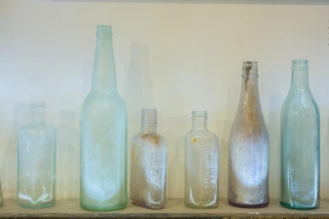 Antique bottles uplit to decorate your kitchen
