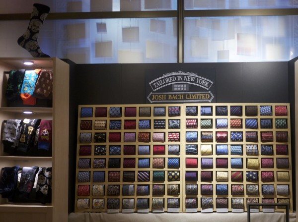 I love the clevery display of ties by Josh Bach Limited