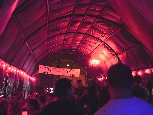 Beer Tent at the Brooklyn Night Bazaar