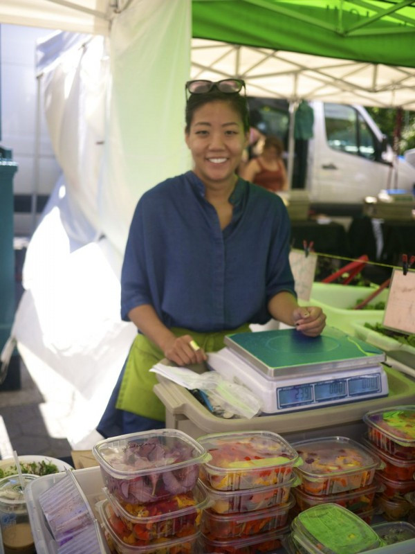 Windfall Farms' JoAnna Kang at the Union Square Greenmarket