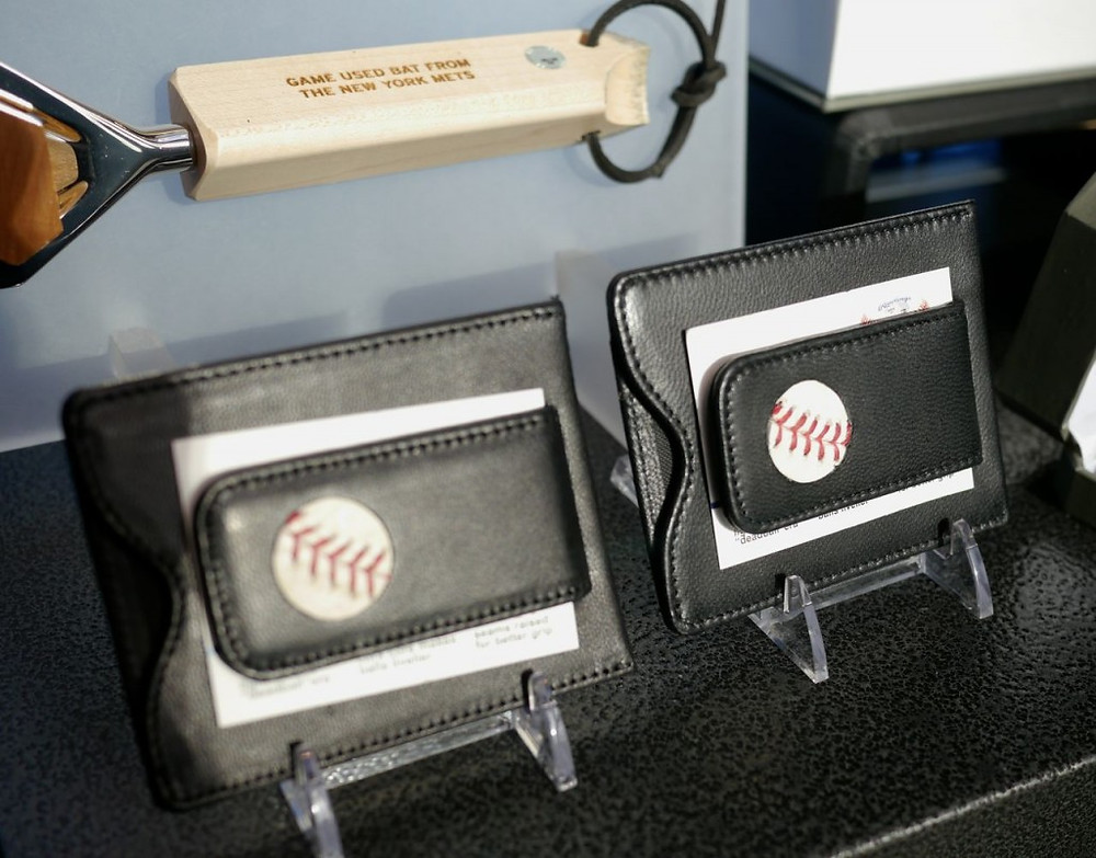 Urban Man Made Wallets with Detailing from Real Baseballs