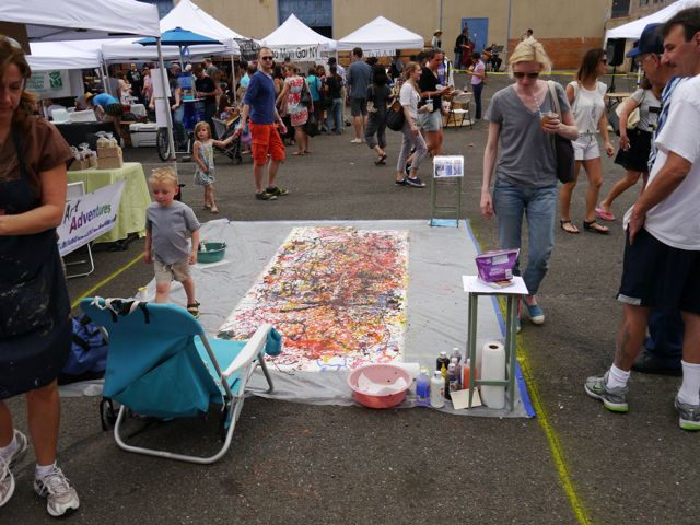 Children's Painting Area at LIC Flea & Food