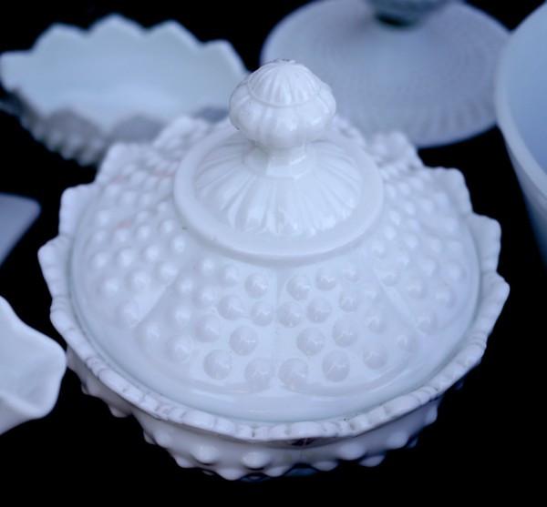 Hobnail Milk Glass Sugar Bowl at the Astoria Flea