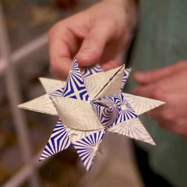 Festive Danish Stars Handmade by Diana Afge