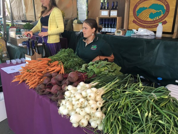Josie Porter Farm brought the fresh local veggies to the Battery Fair