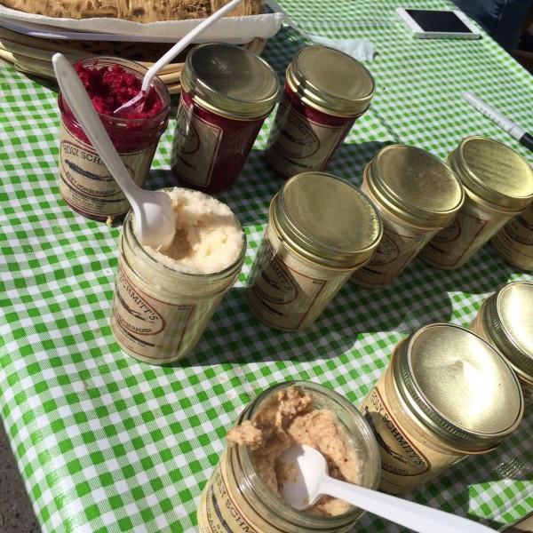 Varieties of Holy Schmitt's Horseradish at the Greenmarket