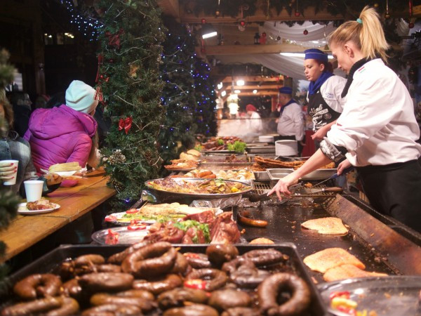 What'll you have? Ordering at the holiday market in Budapest