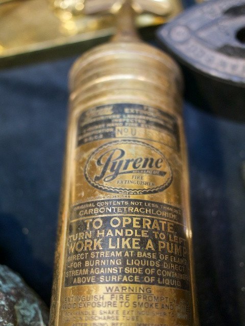 Fascinating antique fire extinguisher - from Abbotkinney at the Antiques Garage