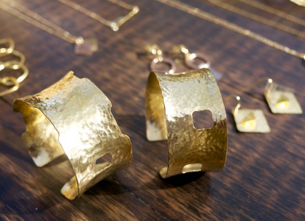 New Gold Cuff from ShayaNYC at Crafts On Columbus