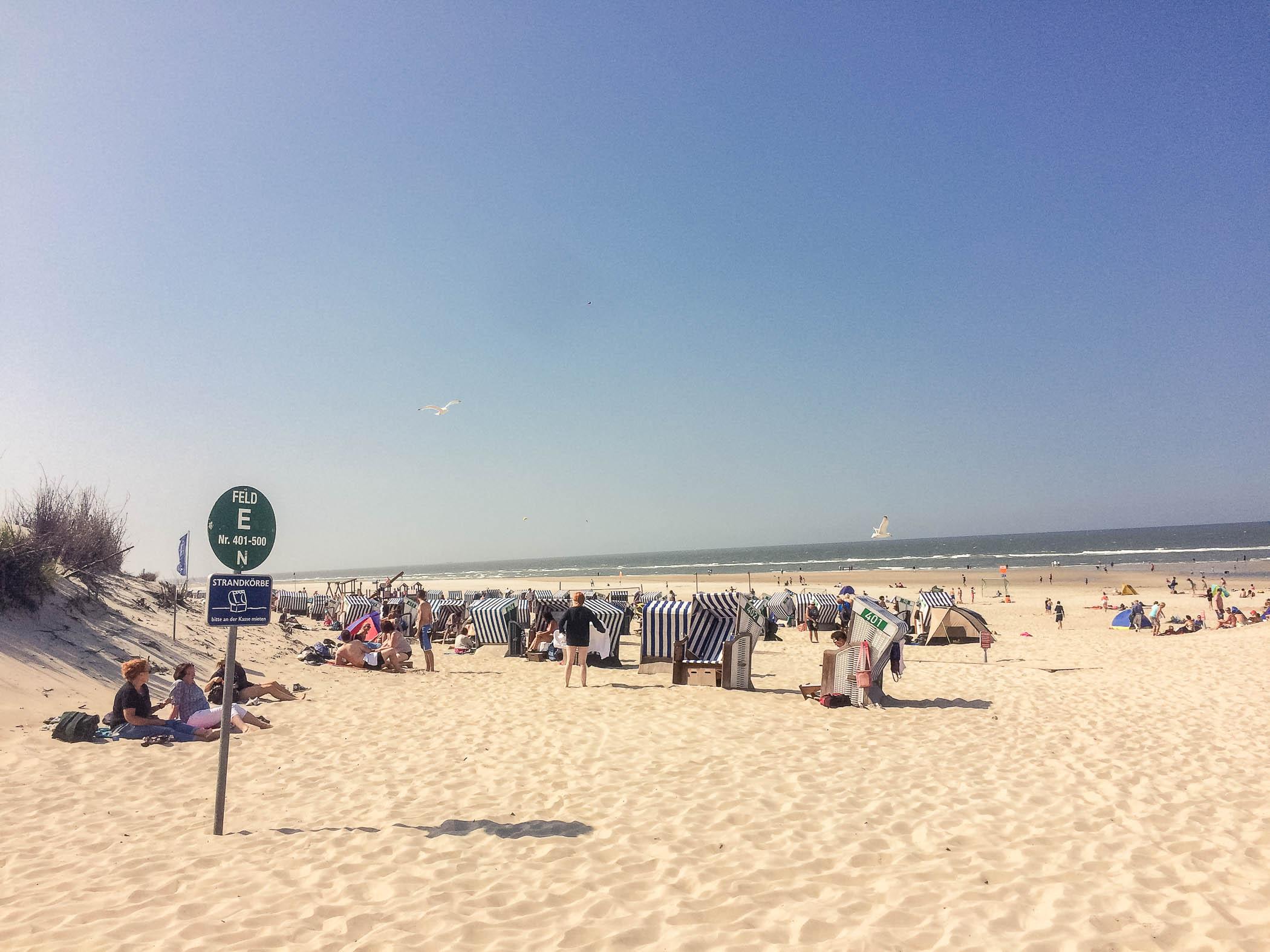 Weiße Düne auf der Insel Norderney