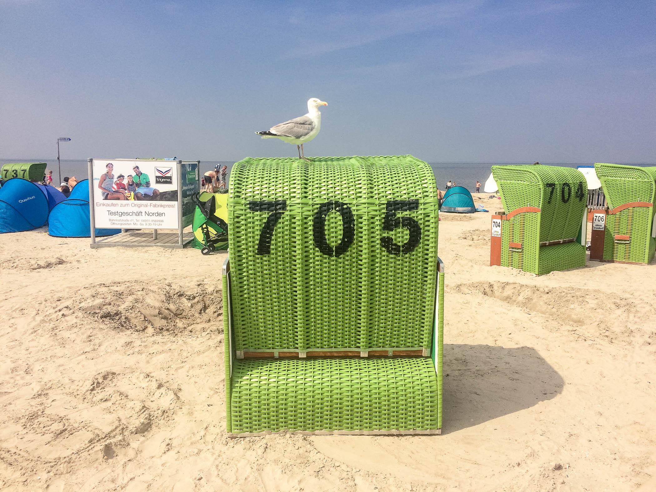 Der wohnungszugehörige Strandkorb