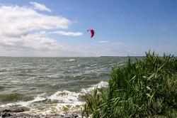 Kiten auf dem Bodden